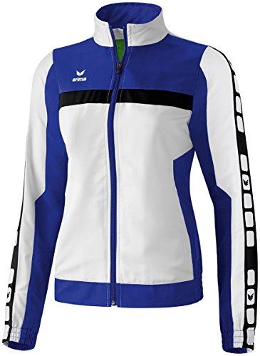 Erima Damen Classic 5-C Jacke Sports-/Präsentationsjacke, weiß/indigo blau/schwarz, 38