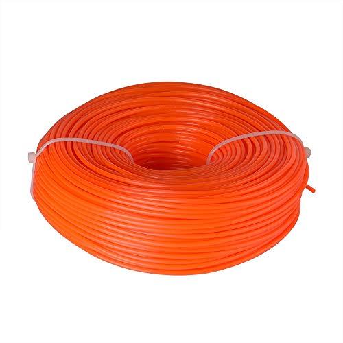 Línea de Corte de Nylo, Hilo desbrozadora Nylon Redonda (2,4 mm x 100 Metros) Heavy Duty Brush Cutter Round Core Wire – Orange