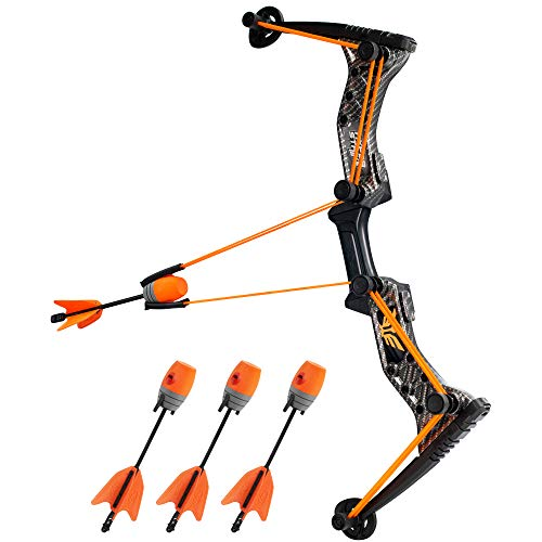 Zing Hyperstrike Bow and foam Arrows, Orange Carbon Fiber, with Incredible range of over 250ft. Great for long range outdoor play with friends and family. The Hyperstrike bow is perfect for safe fun!