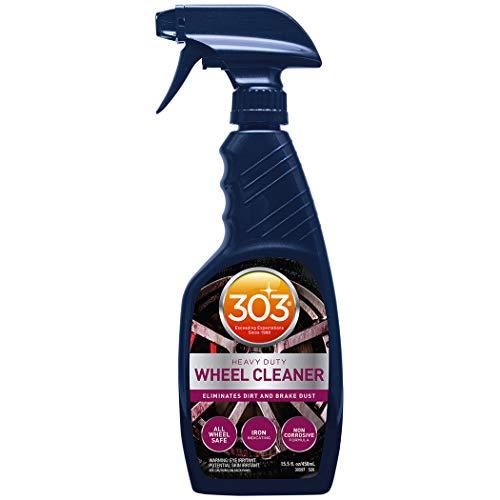 303 Heavy Duty Wheel Cleaner - Eliminates Dirt and Brake Dust - All Wheel Safe - Iron Indicating Formula - Non Corrosive Formula, 15.5 fl. oz. (30597CSR)