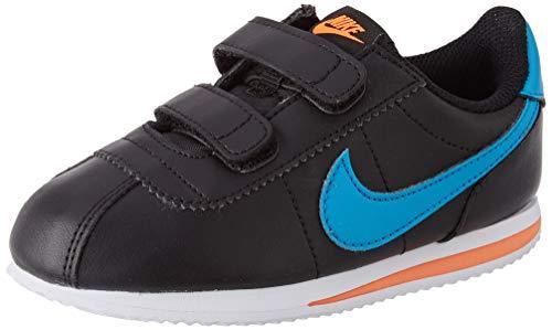 Nike Cortez Basic SL (TDV), Scarpe da Ginnastica, Black/Laser Blue/Hyper Crimson/Metallic Silver, 27 EU