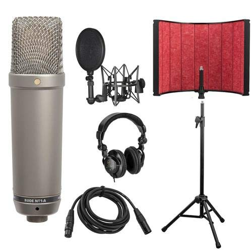 rode vocal microphones Rode Microphones NT1-A Cardioid Mic with Premium Vocal Recording Setup Kit