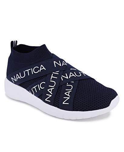 Nautica Women Fashion Slip-On Sneaker Jogger Comfort Running Shoes-Patrika-Navy-9
