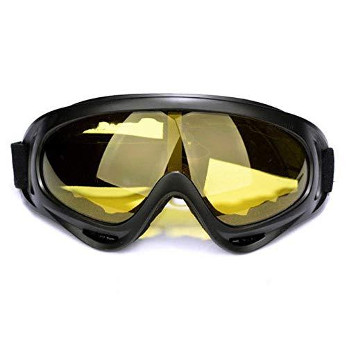 Xixihaha Motocicleta Engranajes protectores Casco cruzado flexible Máscara facial Motocross Gafas ATV Dirt Bike UTV Gafas Gafas Equipo-Amarillo
