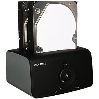 MARSHAL USB3.0対応 クローンHDDスタンド デュプリシリーズ MAL-4535SBKU3 ブラック (CS3926) MAL-4535SBKU3