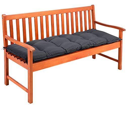 Detex Cojín para Banco de jardín Gris 145x45x8cm Almohadilla para sillón Doble Viscoelástico Hidrófugo
