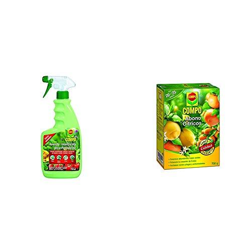 Compo Axiendo insecticida polivalente, Para plantas de interior y exterior, Efecto duradero, Envase pulverizador, 750 ml + Abono para cítricos, Efecto de Larga duración de 4 semanas, 750 g, 2655002011