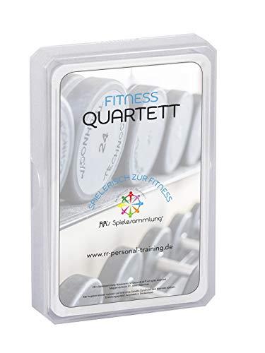RR's Spielesammlung Spielerisch zur Gesundheit - Fitness Quartett Kartenspiel, Partyspiel als Wissensspiel und Lernspiel für Jugendliche und Erwachsene, Trumpf Karten als Spiel (Deutsch)