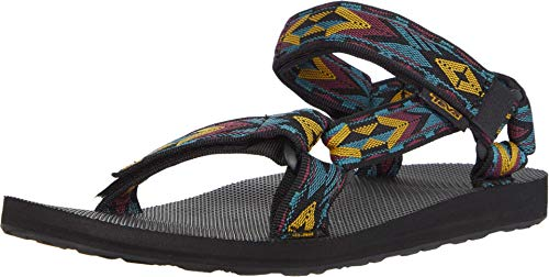Teva Original Universal, Sandalias de Punta Descubierta Hombre, Multicolor (Double Diamond Deep Lake Dddl), 44.5 EU