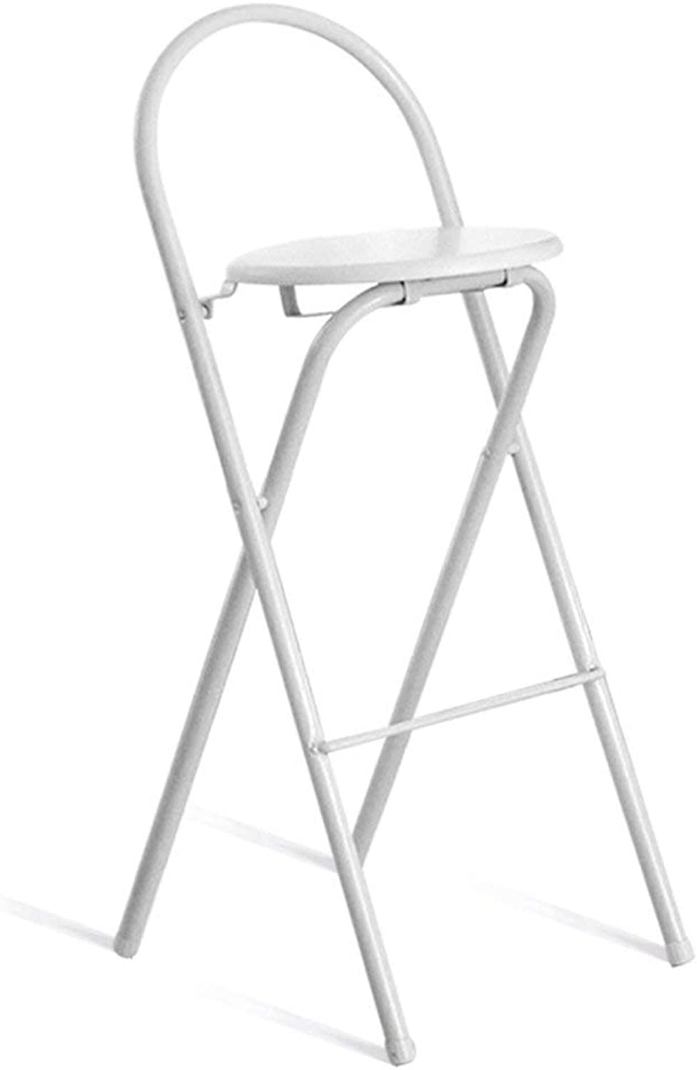 Lil Bar Folding High Chair Home Chair Simple Portable Thickened Adult Chair Stool Lounge Chair (color   Black)