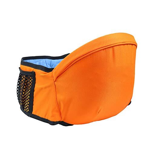 KSWX Porta Bebè Sgabello in Vita Sgabello per Baby Sitter manufatto per Neonati in Cotone Adatto per Gite in Famiglia e Altre Scene,Orange