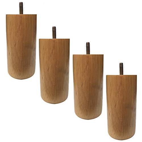 LNX 4er Set Möbelbeine 5/6/7 Zoll Stützbein zum Sofa TV Schrank Bett Badezimmerschrank Tabelle Ersatzbeine - M8