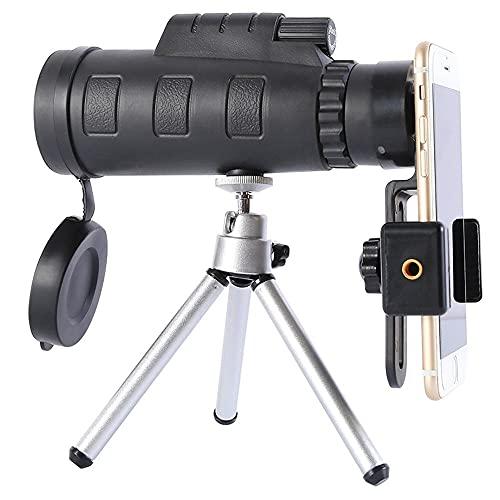 10 telescopios con trípode adaptador de teléfono, telescopio para cámara de fotos para pájaros y flores, para niños adultos y principiantes