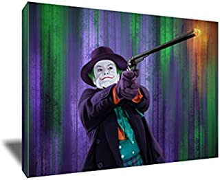 Jack Nicholson The Best Joker Canvas Painting Poster Artwork on Canvas Art Print (8x12 inches)