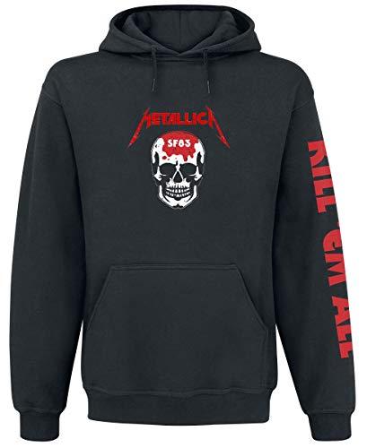 Metallica Kill 'Em All - Skull Hombre Sudadera con Capucha Negro, Regular
