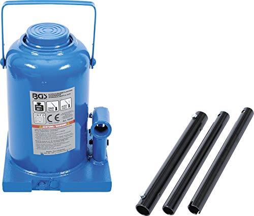 BGS 70039 | Hydraulischer Flaschen-Wagenheber | 32 t | Stempelwagenheber / Kompakt-Wagenheber