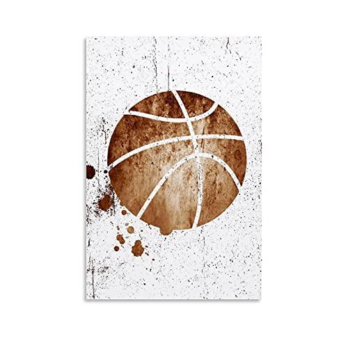 STTYE Cuadro de pared para decoración del hogar, pósteres deportivos, pósteres de baloncesto, dormitorios juveniles, decoración de dormitorio, cuadros clásicos de lona de 20 x 30 cm