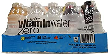 Glaceau Vitamin Water Zero Variety Pack 20 Fl Oz  Pack of 20