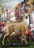 Ebros Gift Wildlife 8 Point Trophy Buck Statue 15' H Outdoor Hunter Whitetail Deer Decorative Figurine Cabin Lodge Rustic Sculpture of Stags Deers Does Bambi