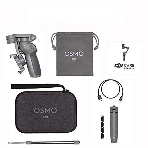 DJI Osmo Mobile 3 Prime Combo - Kit Stabilisateur de Cardan 3 Axes avec Care Refresh, Compatible avec iPhone et Smartphone Android,...