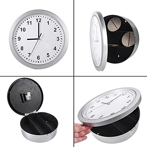 Precise 3 hyllor Klocka Safe Clock Safe Diversion Fack för hem- och kontorsdekoration