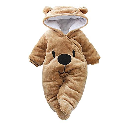 GHQYP Pelele Bebe,Pijamas Bebe Niña 0-12 Meses,Ropa de Invierno para Bebés Recién Nacido, Mono para Bebé, Vestuario Ropa Infantil de Navidad,Brown,80CM(9-12Months)