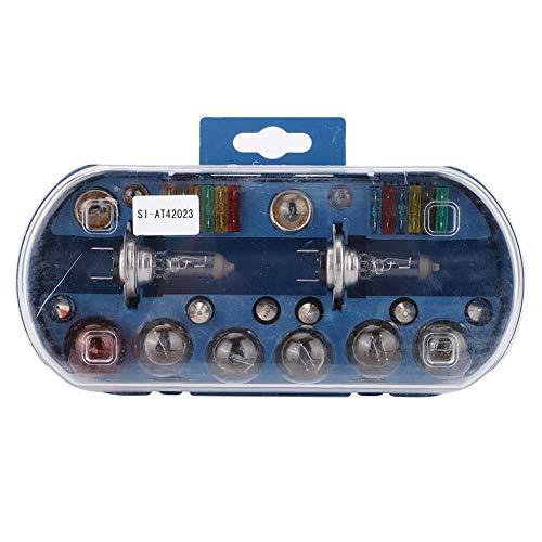 Kit de bombilla + fusible, 30 piezas H7 12V 55W Auto Coche Kit de fusible de bombilla de emergencia Repuestos universales