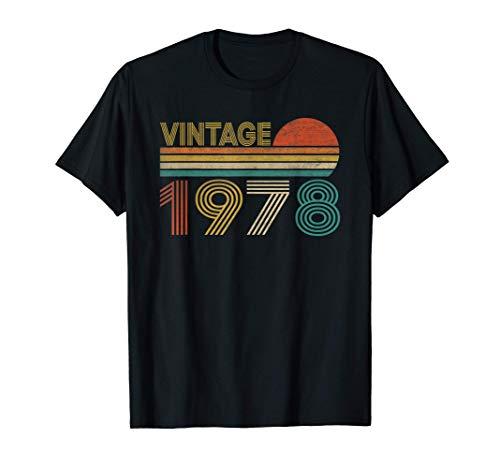 Vintage 1978 43 Anni Compleanno Uomo Donna Regalo Divertente Maglietta