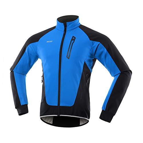 ARSUXEO Chaqueta Ciclismo Hombre Invierno Polar Térmico Softshell MTB Ropa de motorista