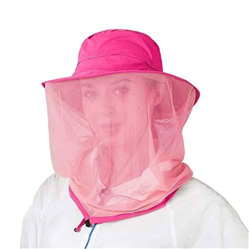 SHJIA Summer Anti Anti Mosquito Net Hat Protezione Solare Cappello Sport Cappello, Cappello da Pescatore Protettivo Giungla