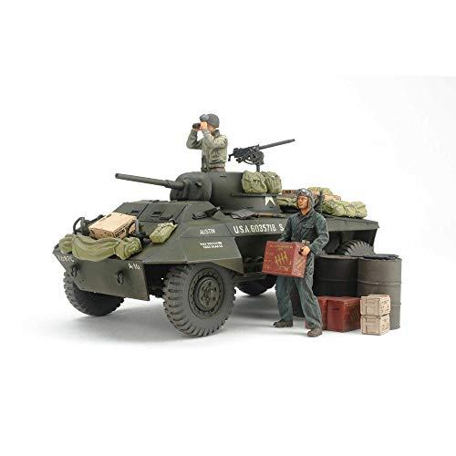 TAMIYA 1:35 US M8 Greyhound Combat Patrol Set, réplica Fiel, modelismo, Kit de plástico, Hobby, Pegado, Kit de modelismo, Montaje, sin Pintar