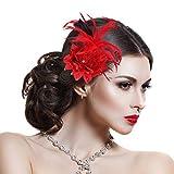 Hotelvs Élégantes Maille Plume Fascinator Fleur Pince À Cheveux Cocktail Chapeau Mariage Accessoires Pour Cheveux