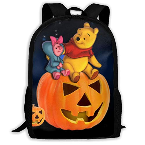 Pooh Bear Halloween Travel Laptop Backpack, Business Backpack for Men & Women Fits 15Inch Notebook Waterproof Multifunctional Backpack
