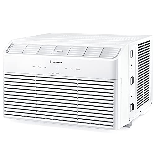 TaoTronics Window Air Conditioner 8000 BTU, Energy Star Extreme Quiet Window AC Unit, Digital Display with 4 Fan Speeds, Dehumidifier Mode, Sleep Mode, Timer, with Temperature Sensing Remote Control