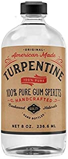 100% Natural Pure Gum Spirits of Turpentine 8 Oz Glass Bottle