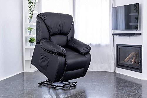 My-Zjd Poltrona da Massaggio per Il Tempo Libero, Poltrona reclinabile elettrica a 160º, Funzione di Riscaldamento, con Telecomando