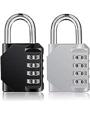 ZHEGE Candado de combinación para casillero, bloqueo de código de 4 dígitos para casilleros de gimnasio, casillero escolar, gabinete, caja de herramientas, etc.