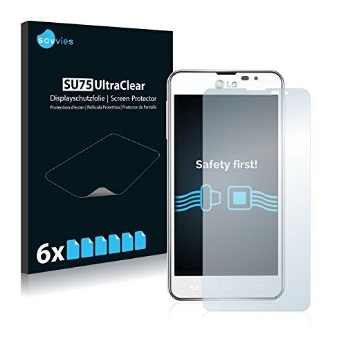Savvies 6X Schutzfolie kompatibel mit LG Electronics P875 Optimus F5 Bildschirmschutz-Folie Ultra-transparent