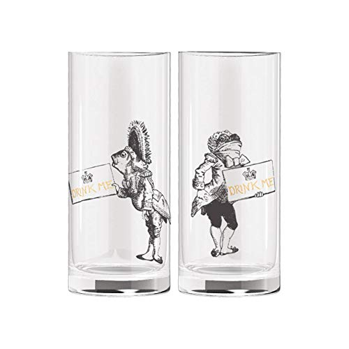 V&A Lot de 2 verres miniatures Alice au pays des merveilles