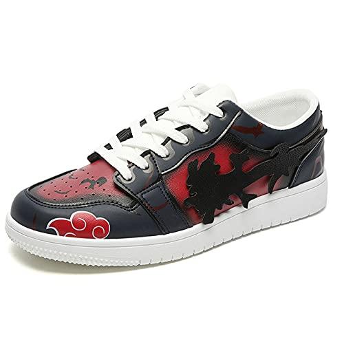 Zapatillas de deporte de Naruto Anime, zapatillas de baloncesto de cintura baja para hombre, zapatillas de deporte informales con cordones con estampado de dibujos animados, zapatos de cosplay 39-44