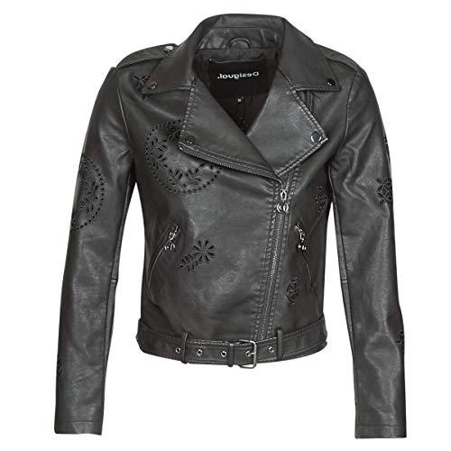 Desigual Utah Jacken Damen Schwarz - DE 36 (EU 38) - Lederjacken/Kunstlederjacken