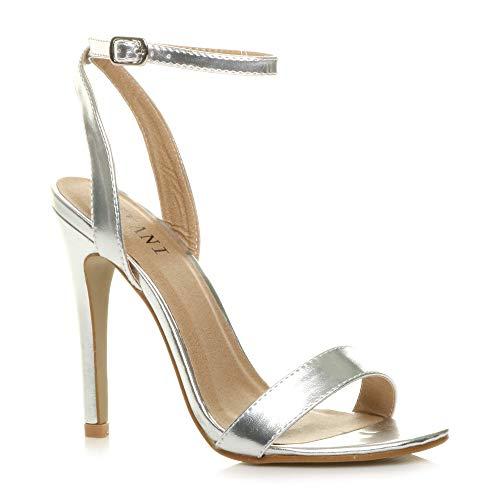 Donna Alto Tacco Partito Fibbia con Cinturino Sandali Scarpe Numero 3 36