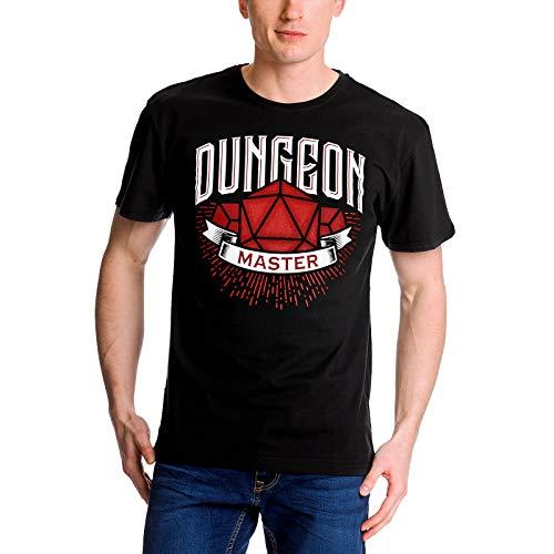 Elbenwald Dungeon Master Camiseta Hombre para fanáticos de Dungeons & Dragons Algodón Negro - XL