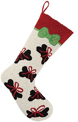 Peking Handicraft All stores are sold 31HRS1329MC Dog Boston Mall Christmas Bone Stocking Hook