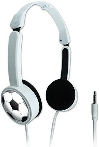 Novelty Travel Portable On Ear Foldable Headphones Soccer Ball Football Ball product image