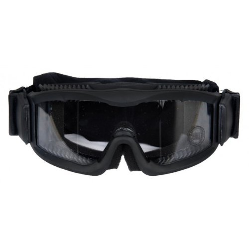 Lancer Tactical Ca-221B Clear Lens Vented Safety Airsoft Goggles, Black