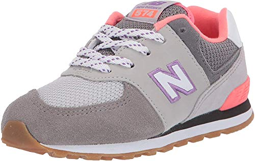 New Balance GC574SOC, Scarpa da Tennis Unisex-Bambini, Negro/Team Royal, 39 EU