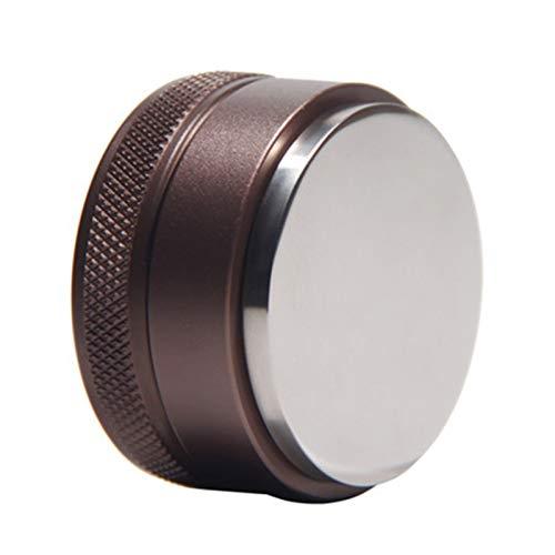 CCHAO Heißer 304 Edelstahl Kaffee Tamper Kaffee Verteiler Kaffee Pulver Hammer Kaffeezubehör 49mm / 51mm / 58mm (Base Diameter : 51mm, Color : The Flat Brown)