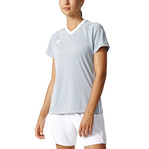 adidas Tiro 17 - Camiseta de fútbol para mujer (talla X), color gris claro