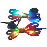 Lacci per Scarpe a LED, Flash a Luce Lampeggiante Lacci per Scarpe a Luce Lampeggiante per Discoteca Hip-Hop Festa in Discoteca Carnevale, Lacci per apparecchi di Illuminazione 1 Paio